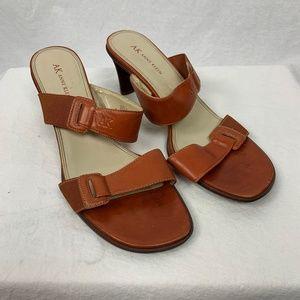 Anne Klein Womens Heeled Sandals Size 9.5 Brown